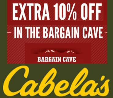 Cabela's: Additional Savings on Bargain Cave Items  10% Off + Free Shipping
