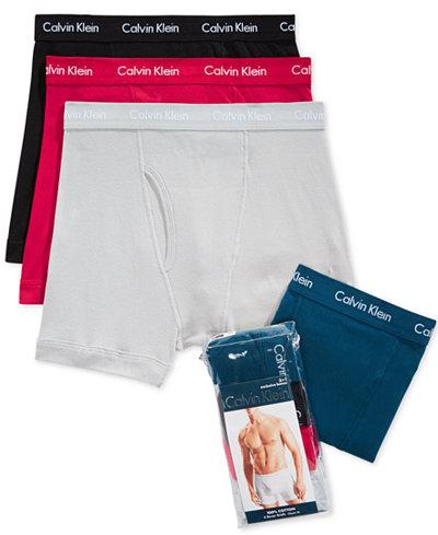 Calvin Klein Men's 3-Pack Classic Boxer Briefs +1 Bonus Pair -  $19.99 @ Macy's