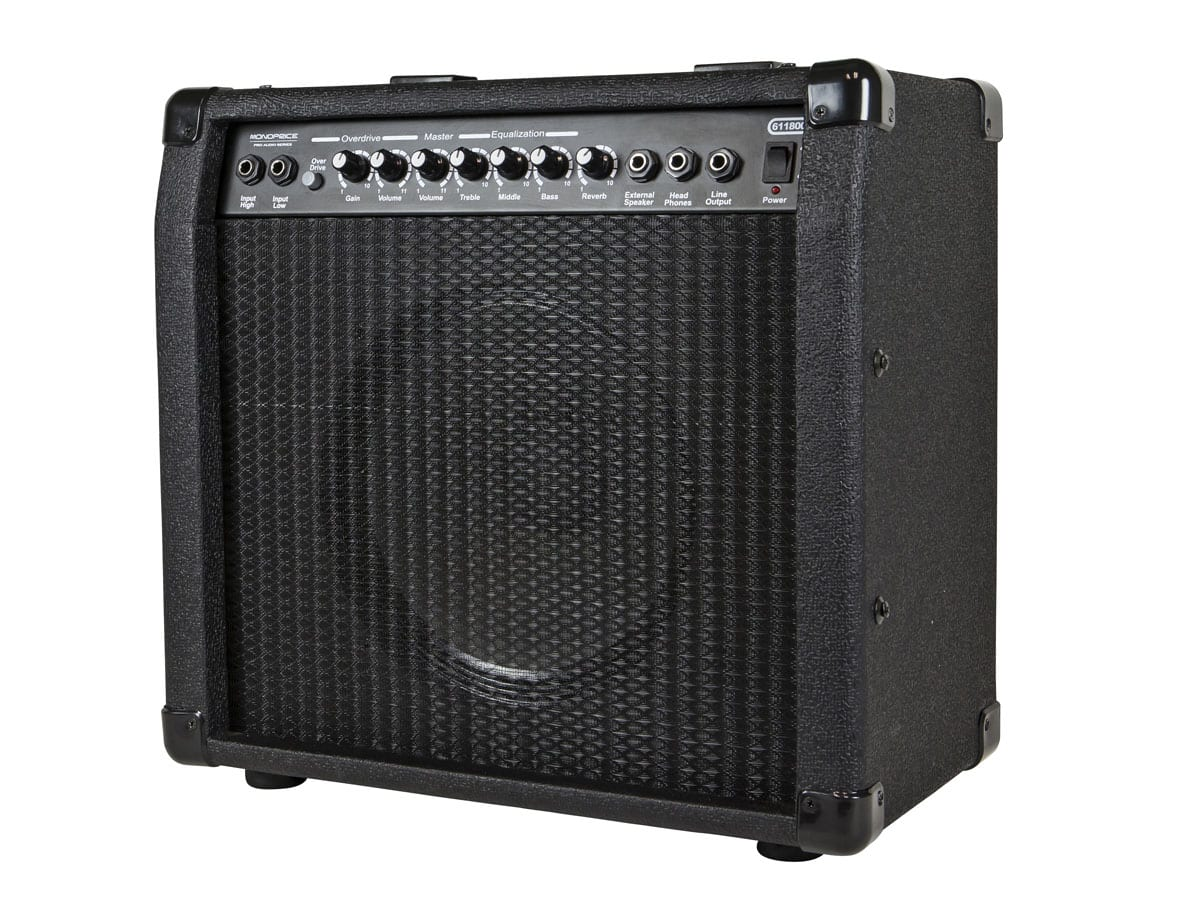 Monoprice 40-Watt 1x10 Guitar Combo Amplifier / Speaker with Spring Reverb $63 + free shipping