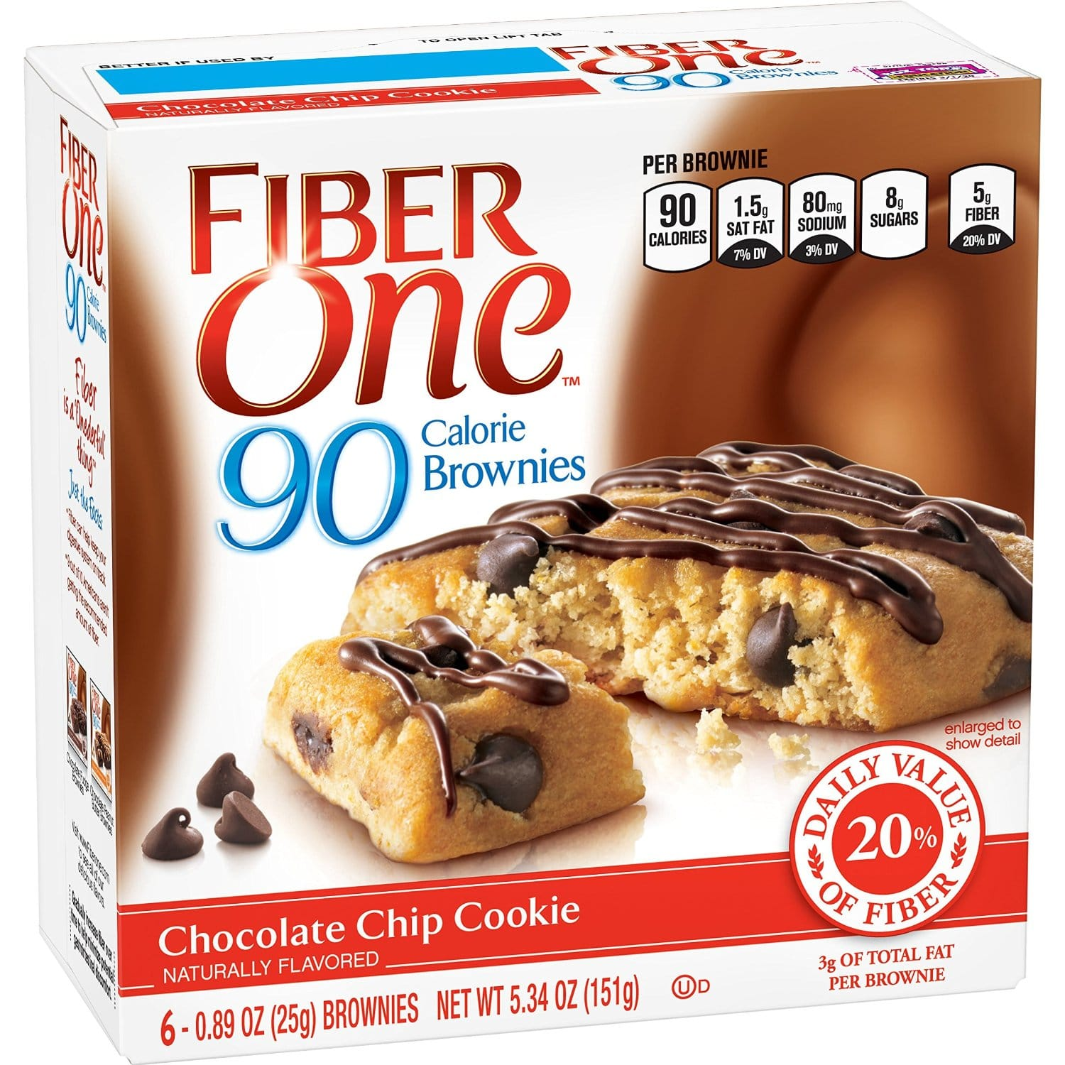 6-Count Fiber One Soft-Baked Chocolate Chip Cookie Bars - As Low As $1.62 - Amazon S&S