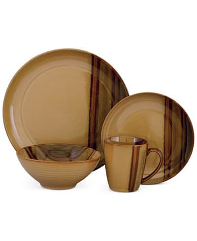 16-Piece Sango Dinnerware Set (Service for 4) 2 for $45.50 ($22.75 each), or 4 Sets for $85 shipped ($21.25 each)