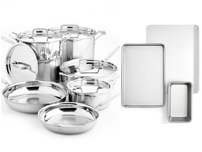 Cuisinart Multiclad Pro Tri-Ply Stainless Steel 12 Piece Cookware Set + 3-pc bakeware set $208 + free shipping