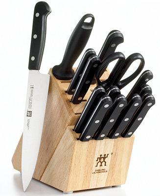 15-Piece Zwilling J.A. Henckels Twin Gourmet Knife Block Set $118 + free shipping
