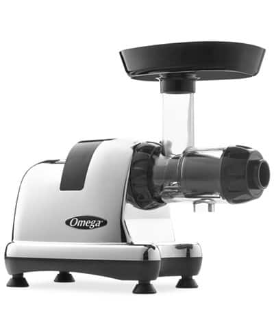 Omega 8008 Chrome Slow Speed Nutrition Center Masticating Juicer $229.50 +free shipping