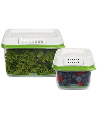 Rubbermaid FreshWorks Produce Saver Containers: 17.3-Cup and 2.5-Cup Set $12.74, 6.3-Cup $7.64, More + free store pickup at Macys