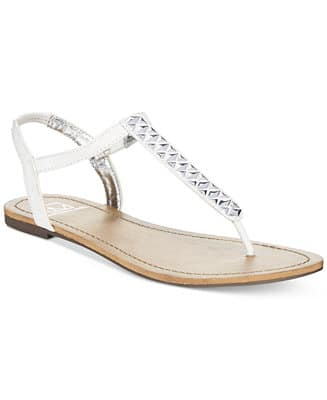 Women's Footwear: Material Girl Sage T-Strap Flat Thong Sandals $6, Keds Slip-On Sneaker $11, Aerosoles Hero Sandals $12, More + Free ship at $25+
