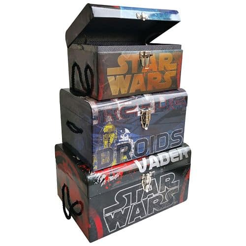 3-Piece Star Wars Darth Vader & R2D2 Flat Top Trunk Set $13.59+ free store pickup at Kohls (ymmv)