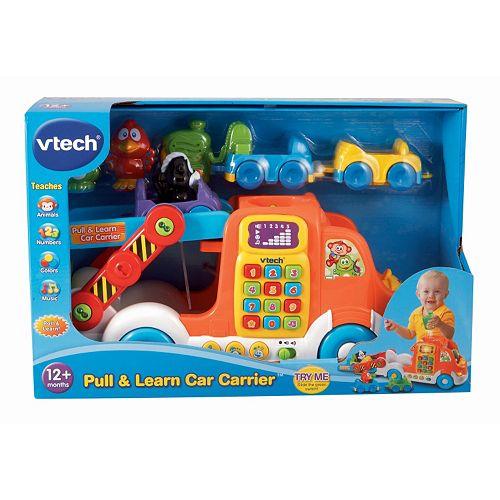 VTech Pull & Learn Car Carrier $12.57, VTech Light & Move Learning Ball $6.79, VTech Connect & Sing Animal Train $8.49, More + free store pickup at Kohls