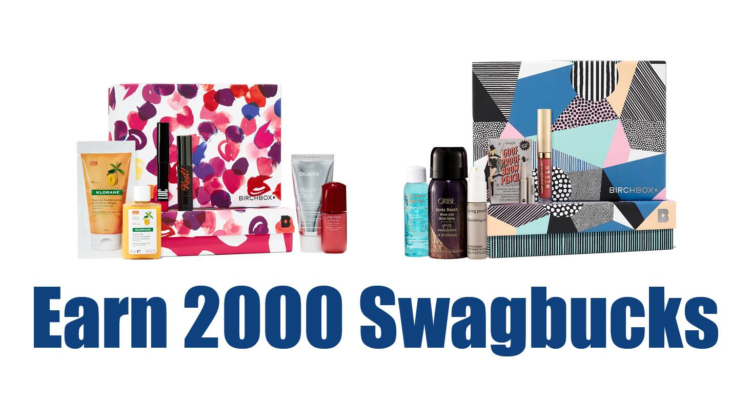Swagbucks: Subscribe to Birchbox & Earn 2000 ($20) SB + Bonus Box  $10 (New Customers) + Free S/H