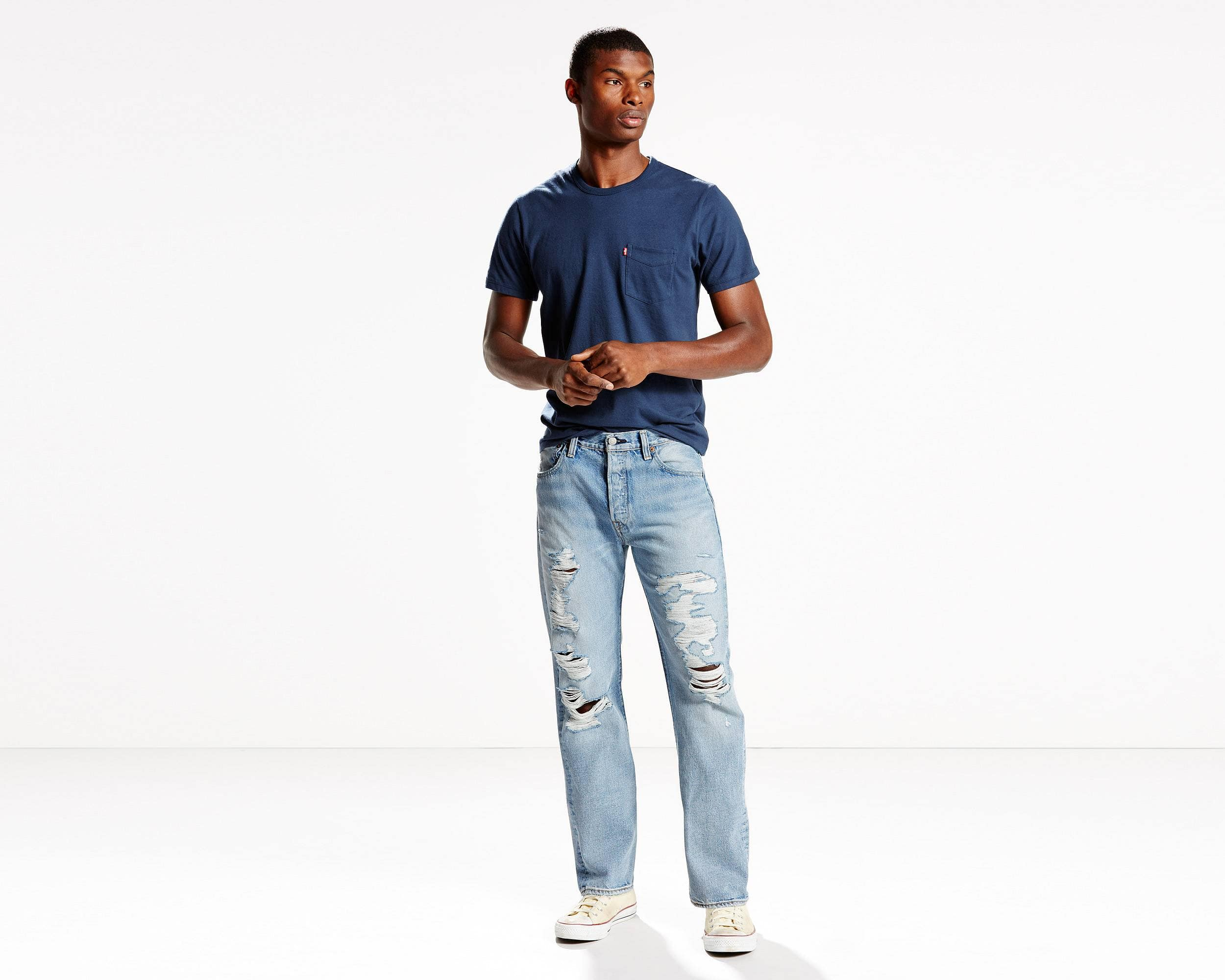 Levis Men's 501 Original Fit Jeans (david color only, size 29-34, inseams available vary) $16 + free shipping