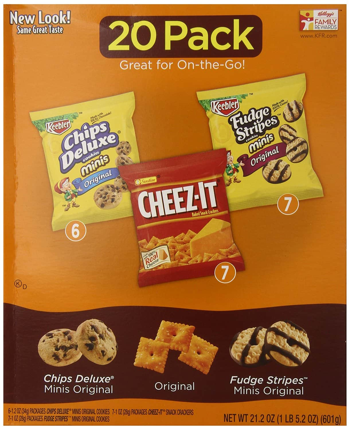 20-Pack 21.2-Oz Keebler Cookie & Cheez-It Variety Pack  $5.56 + Free Shipping