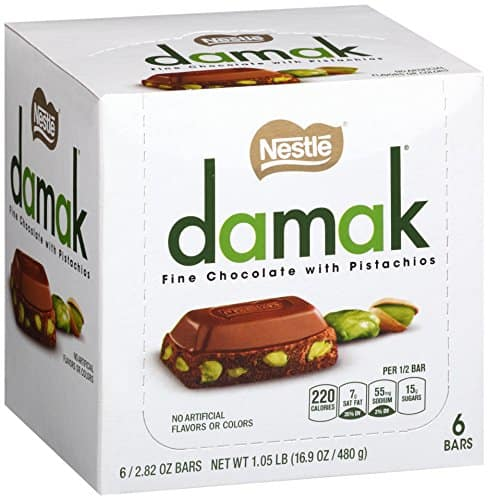 6-Pack 2.82oz. Nestle Damak Fine Chocolate w/ Pistachios $10 + free ship with Prime or on orders over $49
