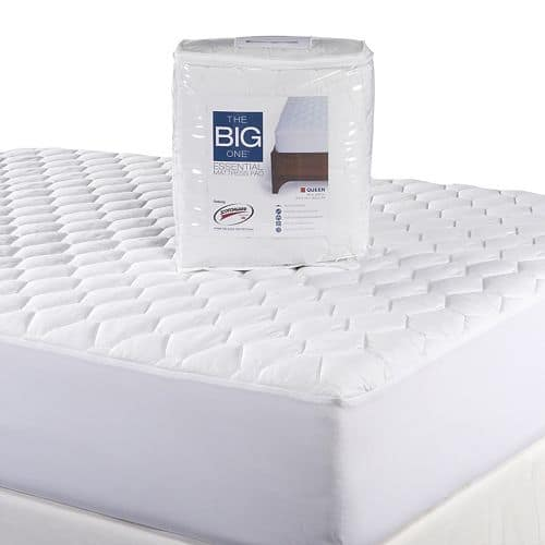 The Big One Essential Mattress Pad in all sizes (Queen, King, etc.) for $11 or $9