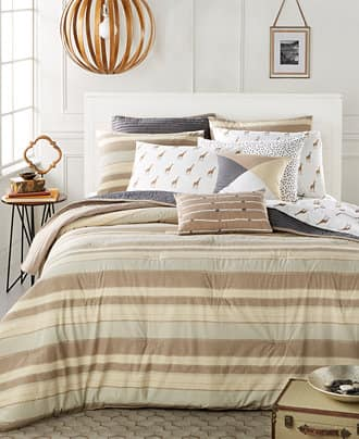 5-Piece Cotton Comforter Sets by Martha Stewart (Queen from $30, King from $25) + Free Store Pickup from Macys