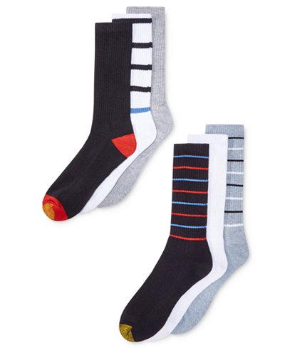 18-Pair Gold Toe Men's Premier Striped Athletic Socks $17 + free store pickup at Macys