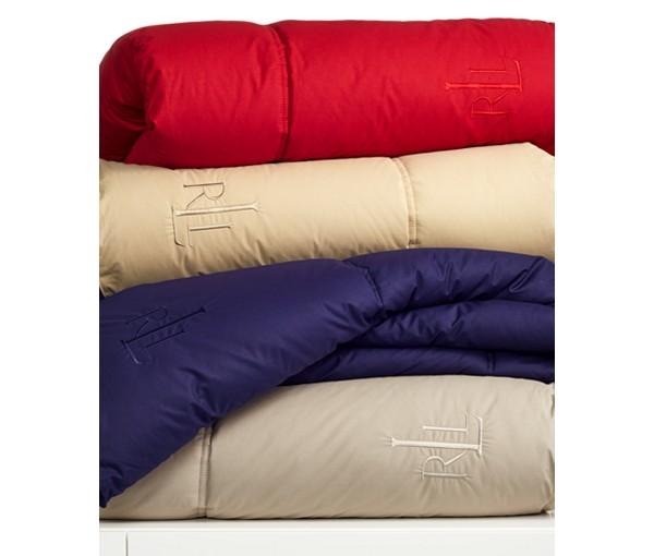 Lauren Ralph Lauren Color Down Alternative Comforter (100% Cotton Cover): Queen $53, King $59