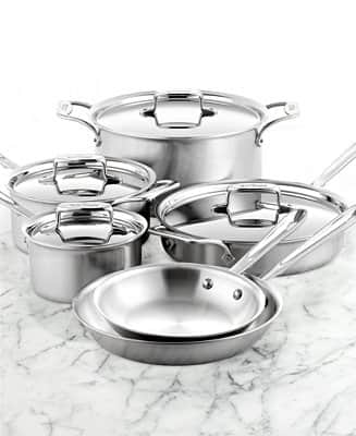 All-Clad Stainless Steel: 10-Piece BD5 Cookware Set w/ Stainless Lasagna Pan $560 + Free Shipping