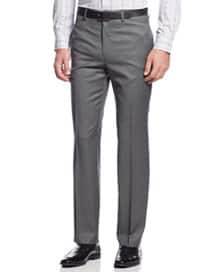 Lauren Ralph Lauren Men's Slim-Fit 100% Wool Grey Pindot Dress Pants $14 & More