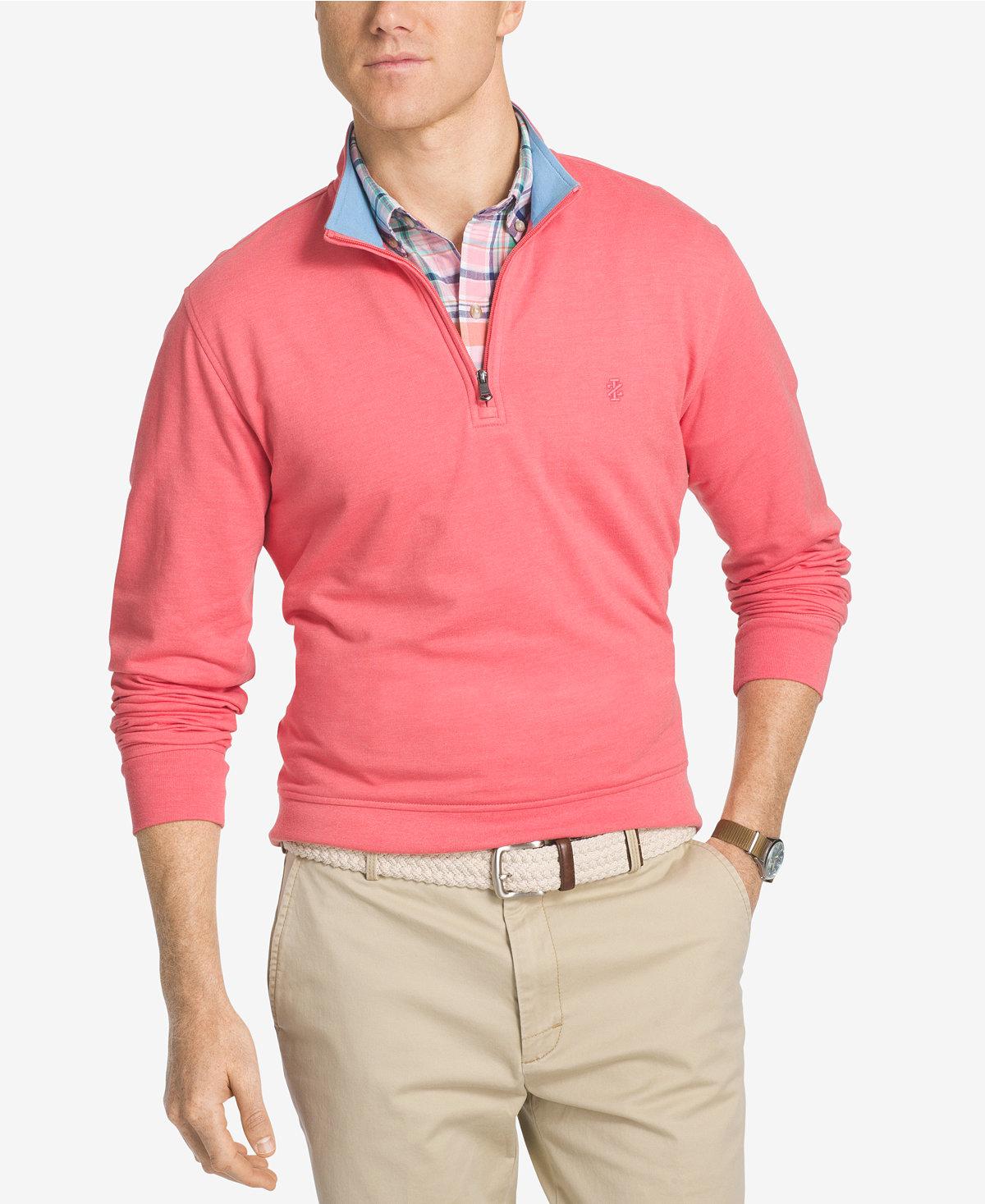 Men's Apparel: Izod Hampton Quarter-Zip Pullover $7.69, Jem Star ...