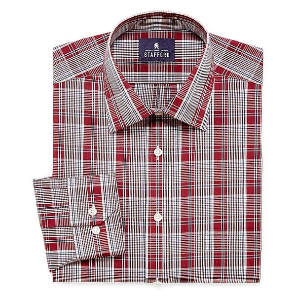 Men 39 s big tall stafford travel long sleeve easy care for Stafford big and tall shirts