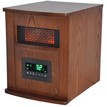 Lifesmart 6 Element 1500W Max Infrared Quartz Heater w/Wood Cabinet & Remote $26.27 + free shipping (+ $10 Amazon reward for no-rush shipping, may be ymmv)