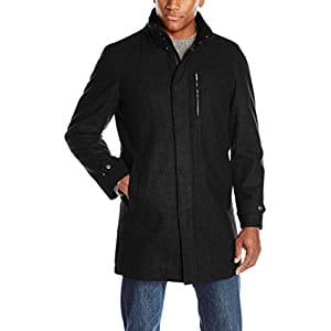"""Men's Wool Blend Coats (select sizes/prices vary): Perry Ellis 35"""" (large) $20.85, Haggar Double-Breasted Peacoat (XL) $23.25, More + free ship on $25+ or FS w Prime"""