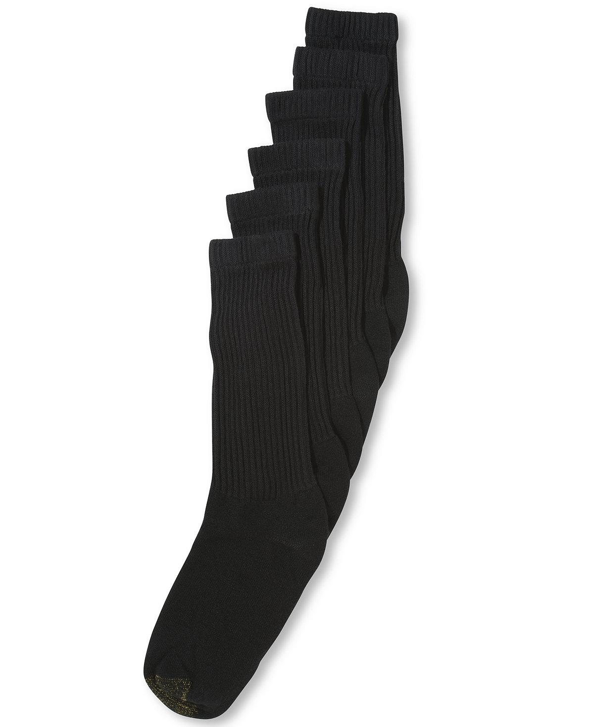 Gold Toe: 6-Pack Men's Crew or Quarter Athletic Socks $8.40, 6-Pack Women's Soft Liner Socks $4.89, + $5 in Macys Money on $25+, More + $2.55 shipping or free store pickup at Macys
