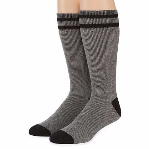 Columbia Men's Cushioned Boot Crew Socks 2-Pair $2, Columbia Men's Crew Socks 4-Pair for $4 + free shipping