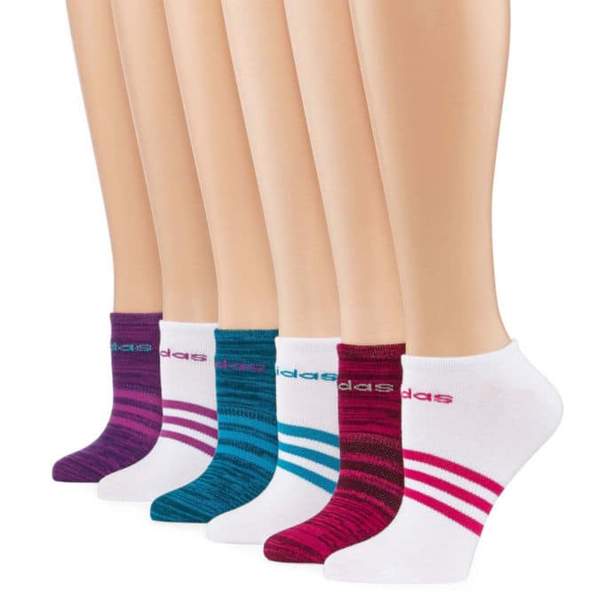 6-Pair Women's Adidas Superlite No Show Socks $4.80 + Free shipping
