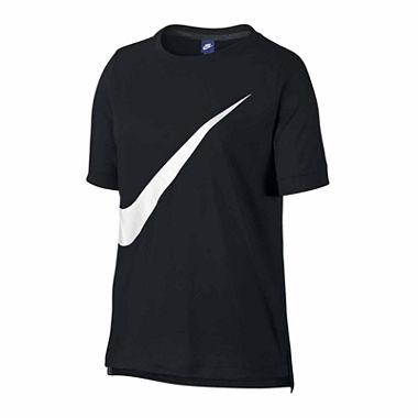 Nike Women's: Swoosh Short Sleeve Crew Neck T-Shirt $7.20, Nike Cropped Pants $12, Mesh Insert Tank Top $6 , More+ free shipping