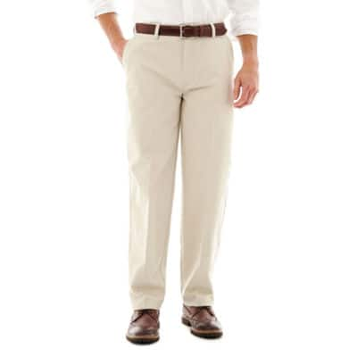 St. John's Bay Men's Worry Free Relaxed-Fit Flat-Front Pants $7.60, Lee Total Freedom Relaxed Fit $8, Xersion Compression Pants $5.40 + Free ship to JCP store on $25+