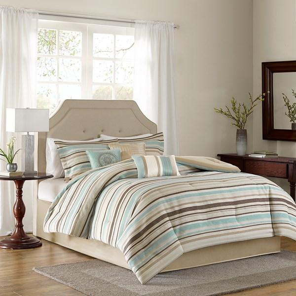 7-piece Madison Park Alexandra Comforter Set $30 (comforter, shams, 3x decor pillows, bed skirt) + free ship on $49 or $6 shipping