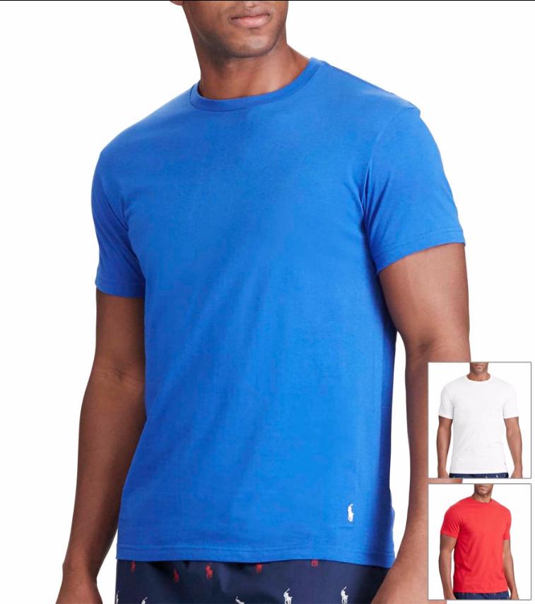 Men's Polo Ralph Lauren Cotton Crewneck Tees 6 for $30.44 ($5.07 each) + free shipping