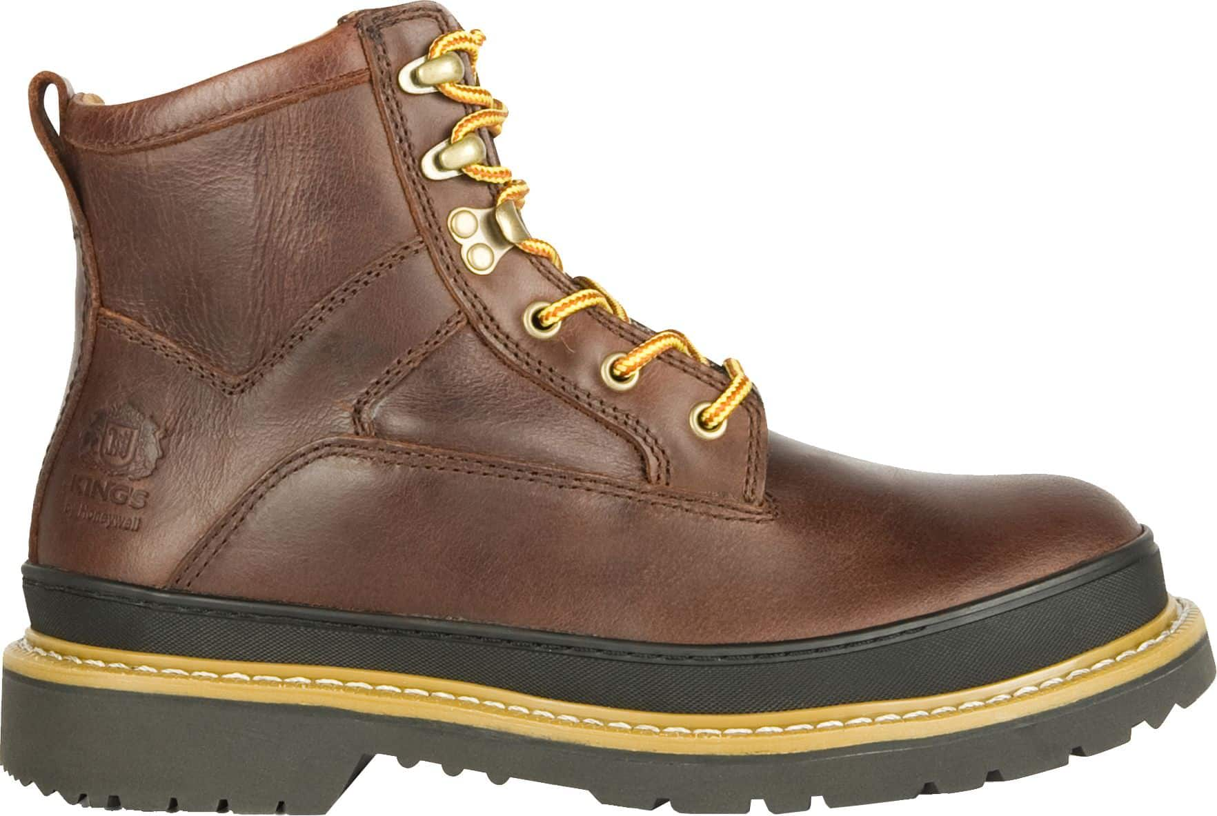 KING'S by Honeywell Men's Leather Welted Steel Toe Work Boots $24 + free shipping