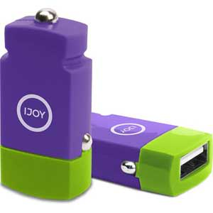 iJoy Mini Car Charger 2.1A $0.90, IJOY Wall Charger Set w/ 4.5' Micro USB Cable (pink) $1.30 + free shipping