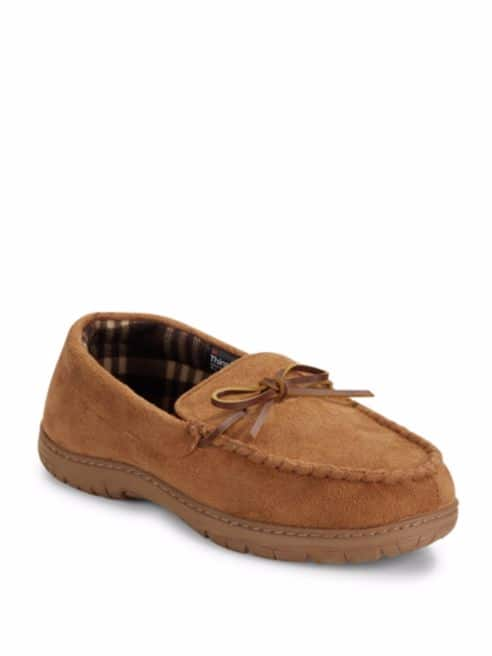 Saks off 5th: Saks Fifth Avenue Men's Slippers (2 styles) $10.50 + free shipping with shoprunner