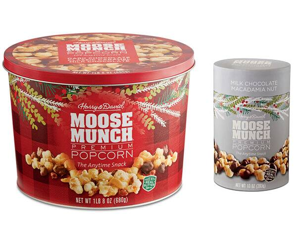 24-Oz Harry & David Moose Munch Popcorn Tin + 10-oz Canister $20 + free store pickup at Macys