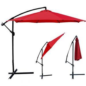 10' Offset Patio Market Umbrella (Red or tan) $40 + free shipping