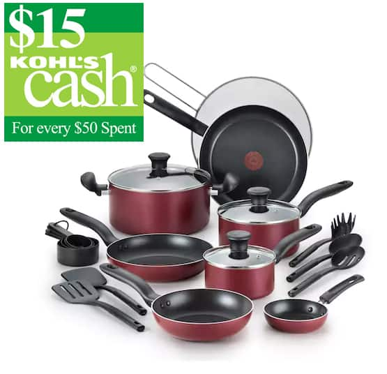 20-Pc T-Fal Reserve Nonstick Aluminum Cookware Set + $15 in Kohls Cash $39.49 after rebate + free shipping