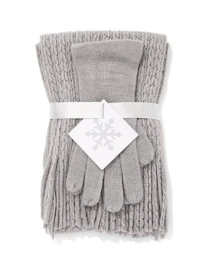New York & Company Women's Hat and Glove Gift Set $5, Hooded Puffer Jacket $15, More + free shipping