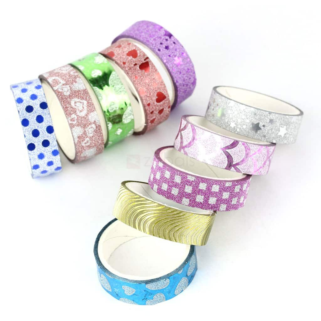 5-Pieces Waterproof Colored Duct Tape (random) $0.40 Shipped