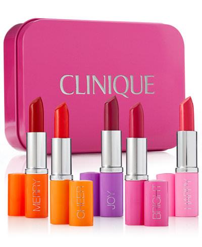 Clinique 5-Piece Pick Your Party Lipstick Set $21.25, 2-Pc. Party Pops Set or Merry Moisture Set $9.60, More + free shipping