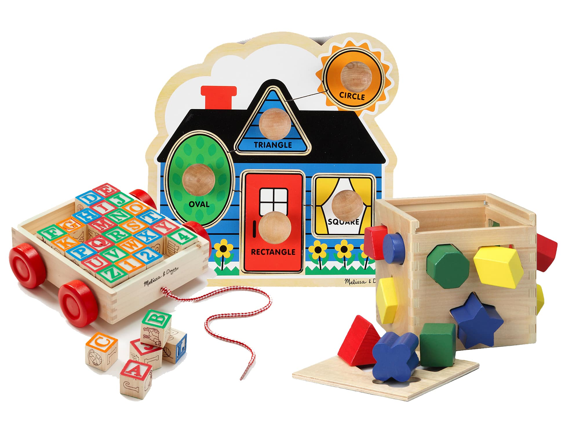 Melissa & Doug Sale + $10 off $30: Jumbo Knob Puzzle + ABC Block Cart + Shape-Sorting Cube $20.47 + Free shipping & much more w/ Masterpass checkout
