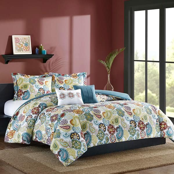 Colorful Comforter Sets: 5-Piece Taylor Comforter Set (Queen) $20, 4-Piece Billie Coverlet Set (Twin or Queen) $20 + Free ship on $49+