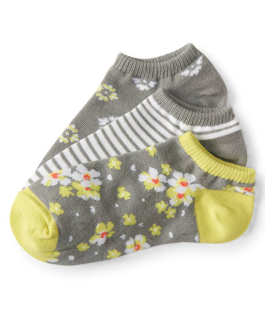 Aeropostale 3-pack Women's Ankle Socks: floral and stripe $2.40, other styles $2.80 + free shipping