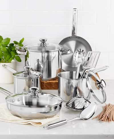 13-Piece Tools Of The Trade Stainless Steel or Non-Stick Cookware Set $22 after $20 rebate