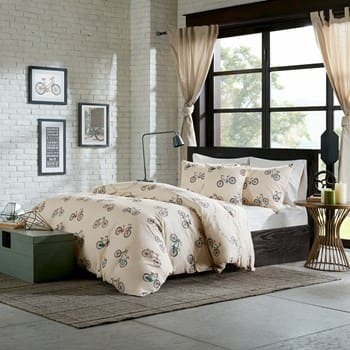 4-piece Hipstyle Raleigh Cotton Comforter Set (bicycles) $25, 8-Piece Sloan Comforter Set $30, More + free ship on $49+