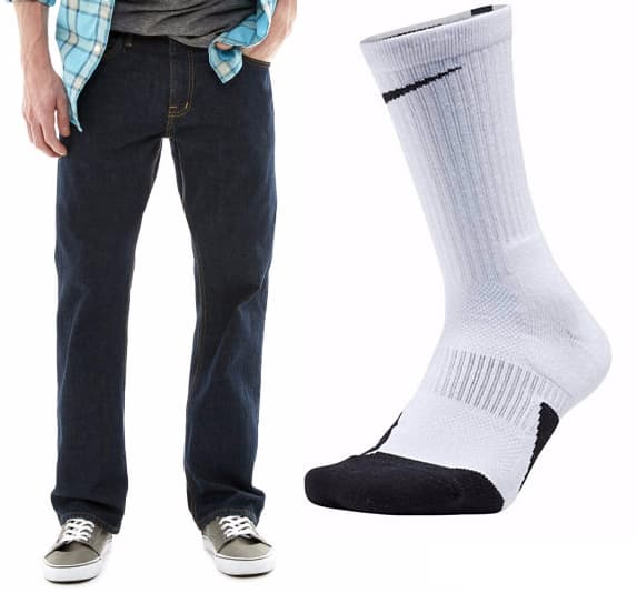 Men's Nike Elite Basketball Crew Socks + Pair of Arizona Jeans $20.50 + free shipping