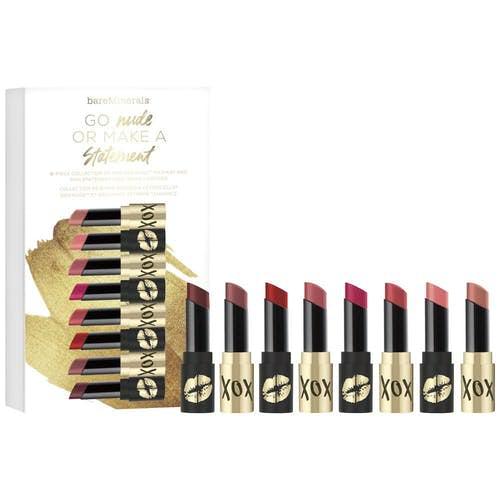 8-Piece bareMinerals Go Nude Or Make A Statement Minis Lipstick Set $10.80, Mini Lash Domination Duo $6, More + free shipping