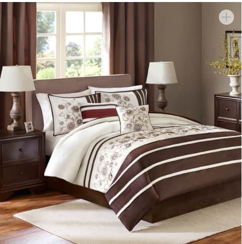 5-Piece Madison Park Kathy or Quebec Comforter Set (king) $25, More + free ship on $49+
